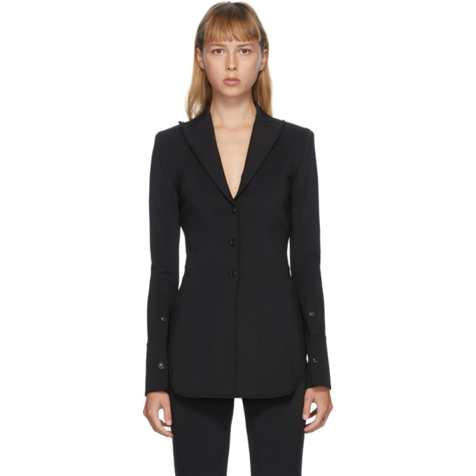 Alexander Wang Chemise ajustee noire Pointed Collar