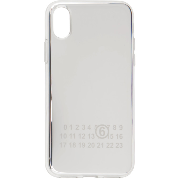 Silver Mirrored iPhone X Case