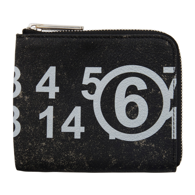 Mm6 Maison Margiela MM6 MAISON MARGIELA BLACK LOGO ZIP COIN PURSE