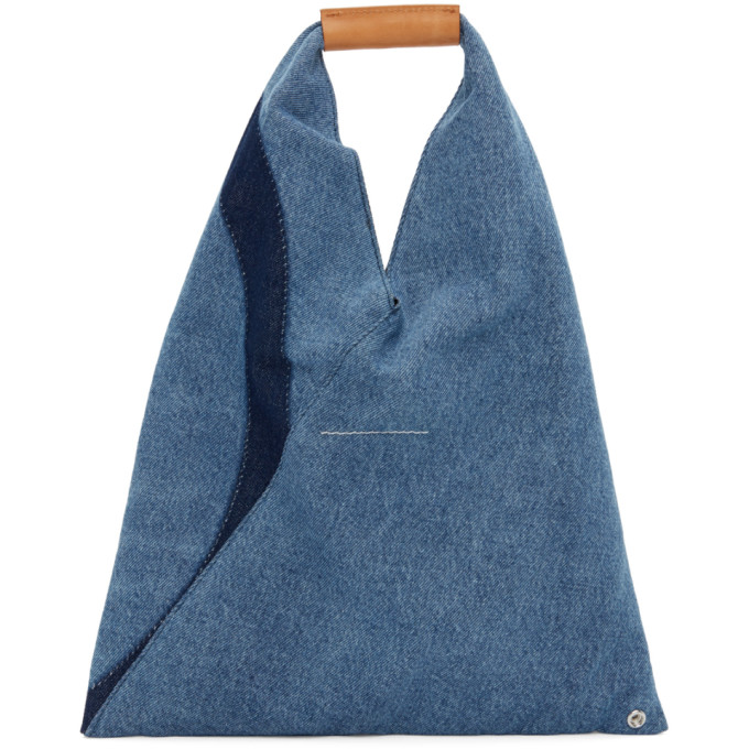 MM6 MAISON MARGIELA Leathers MM6 MAISON MARGIELA BLUE DENIM SMALL JAPANESE TOTE