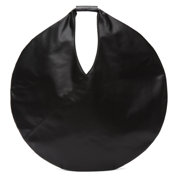 Mm6 Maison Margiela Mm6 Medium Japanese Circle Bag In T8013 Black