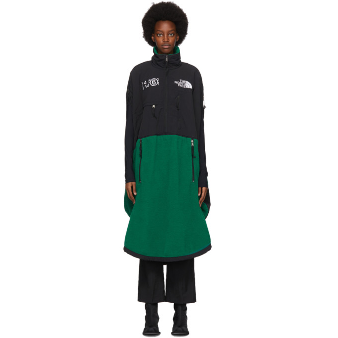 Mm6 Maison Margiela MM6 MAISON MARGIELA GREEN THE NORTH FACE EDITION FLEECE CIRCLE DRESS