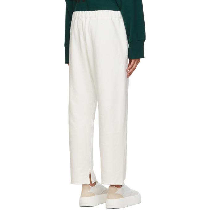 MM6 MAISON MARGIELA Loungewears MM6 MAISON MARGIELA WHITE LOGO LOUNGE PANTS
