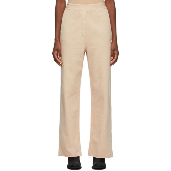 MM6 Maison Margiela Beige French Terry Lounge Pants  - buy with discount