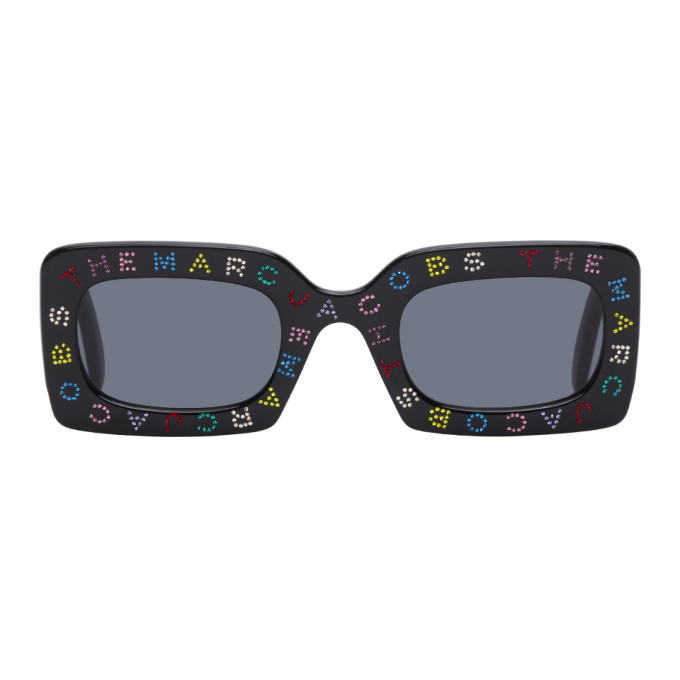 Marc Jacobs 黑色 The Logo 方框太阳镜