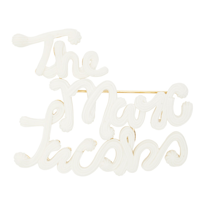 Marc Jacobs MARC JACOBS OFF-WHITE THE ICING BROOCH