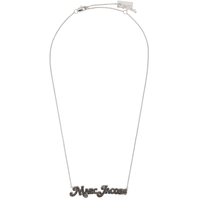 Marc Jacobs MARC JACOBS SILVER NEW YORK MAGAZINE EDITION THE SMALL MJ NAMEPLATE NECKLACE