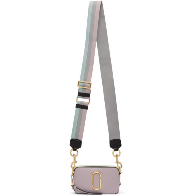 Marc Jacobs Purple and Green Small Snapshot Bag