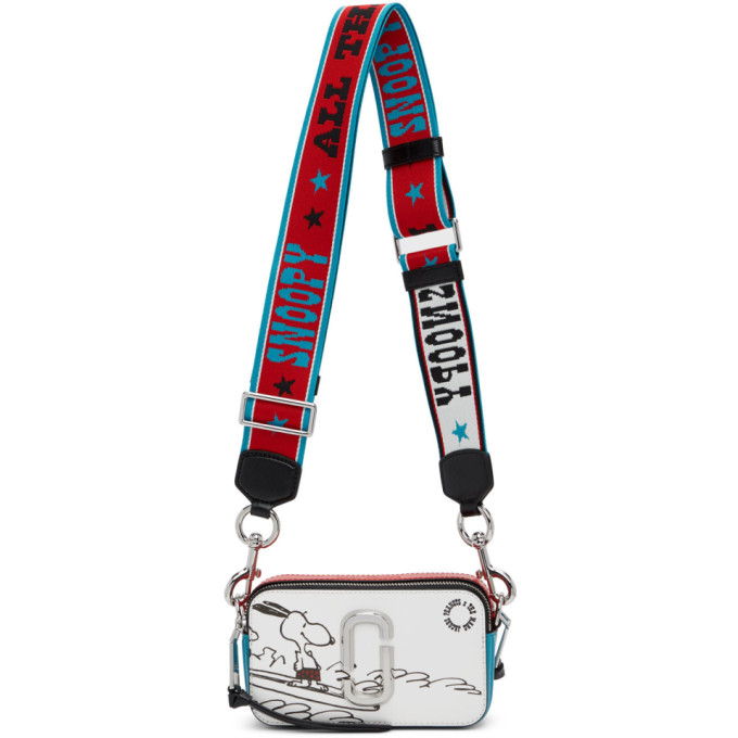 Marc Jacobs MARC JACOBS RED AND BLUE PEANUTS EDITION SNOOPY SNAPSHOT SHOULDER BAG