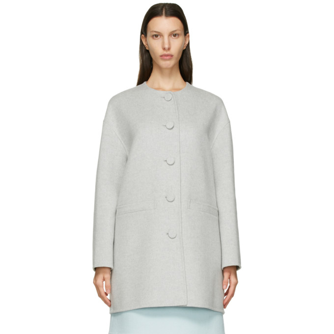 Marc Jacobs MARC JACOBS GREY BOXY CARDIGAN COAT