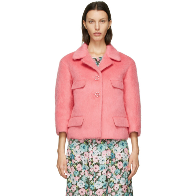 Marc Jacobs Marc Jacobs Pink Wool Boxy Jacket