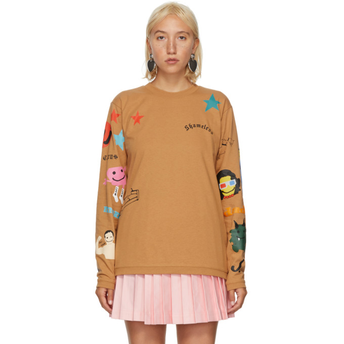 Marc Jacobs BROWN CPFM EDITION TATTOO LONG SLEEVE T-SHIRT