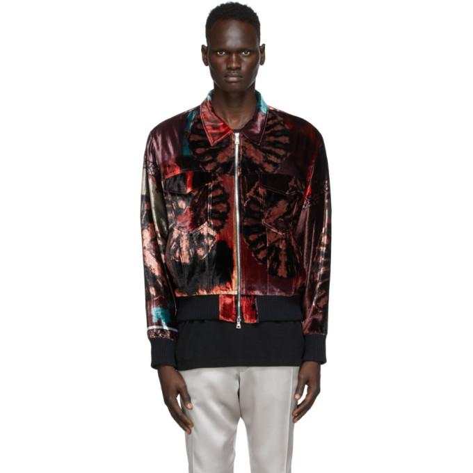 Nahmias Nahmias Multicolor Silk Velvet Smoker Jacket
