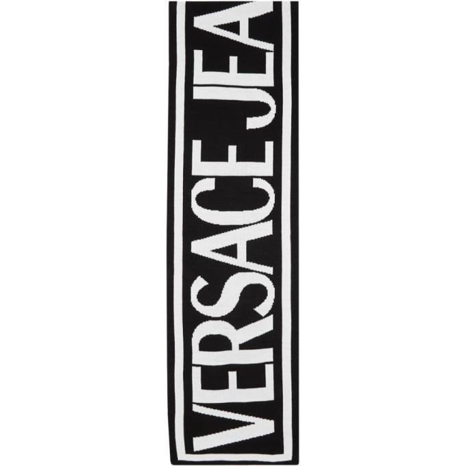 Versace Jeans Couture Foulard a logo noir et blanc