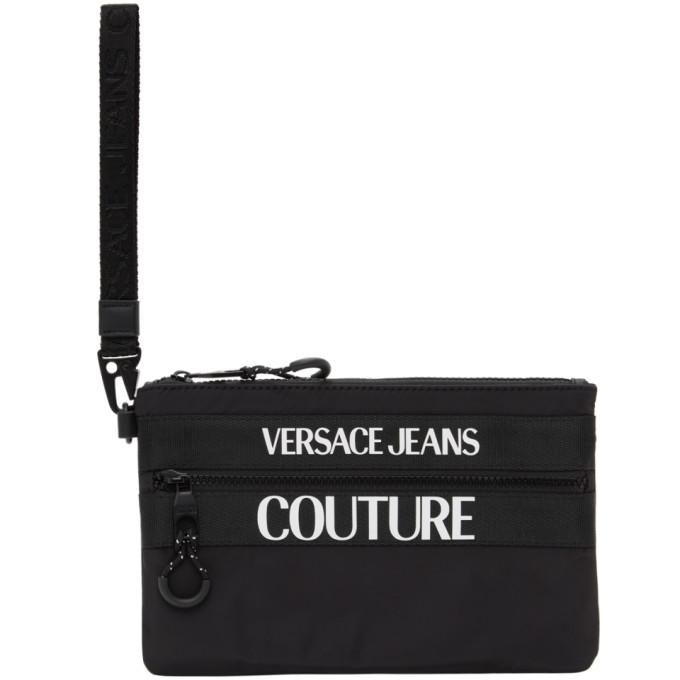 Versace Jeans Couture VERSACE JEANS COUTURE BLACK LOGO POUCH