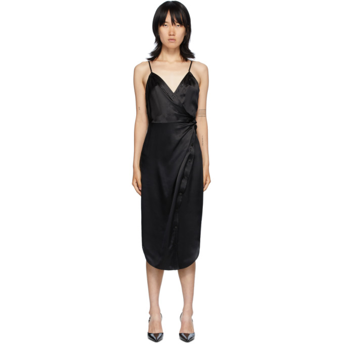 Diesel ALEXANDERWANG.T BLACK CAMI TWIST MIDI DRESS