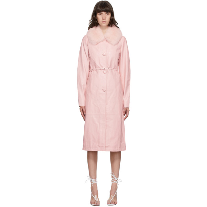 Saks Potts SAKS POTTS PINK FUR CHARLOT COAT