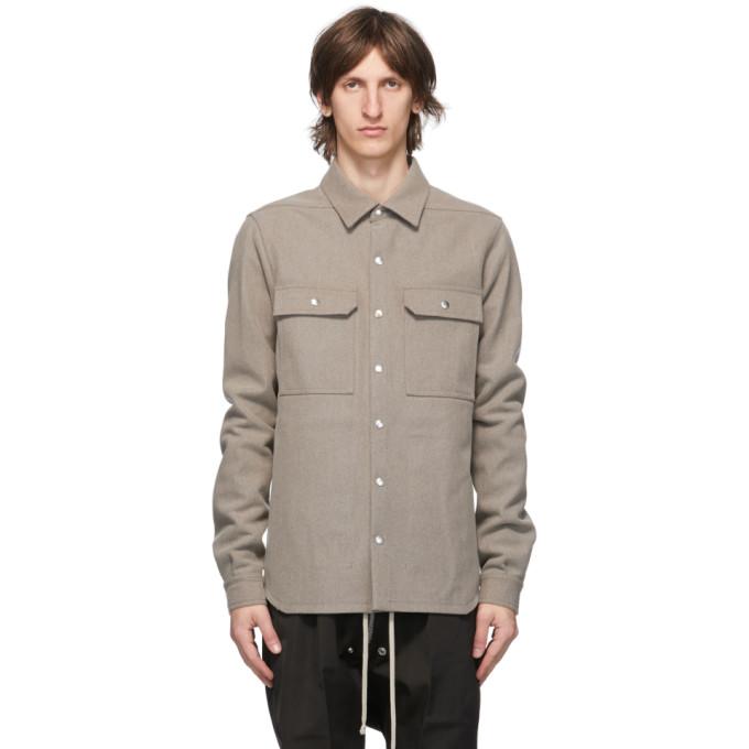 Rick Owens Rick Owens Grey Wool Outershirt Jacket