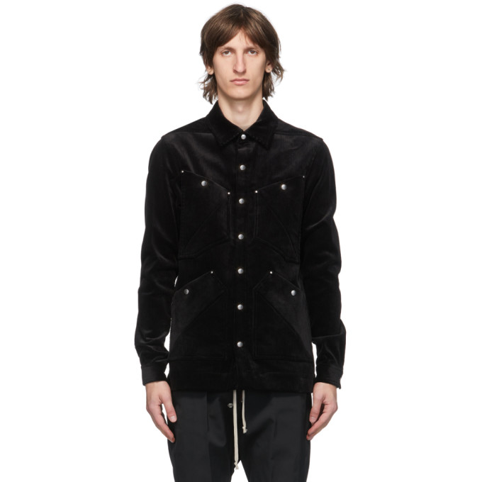 Rick Owens Rick Owens Black Four Pocket Outershirt Jacket