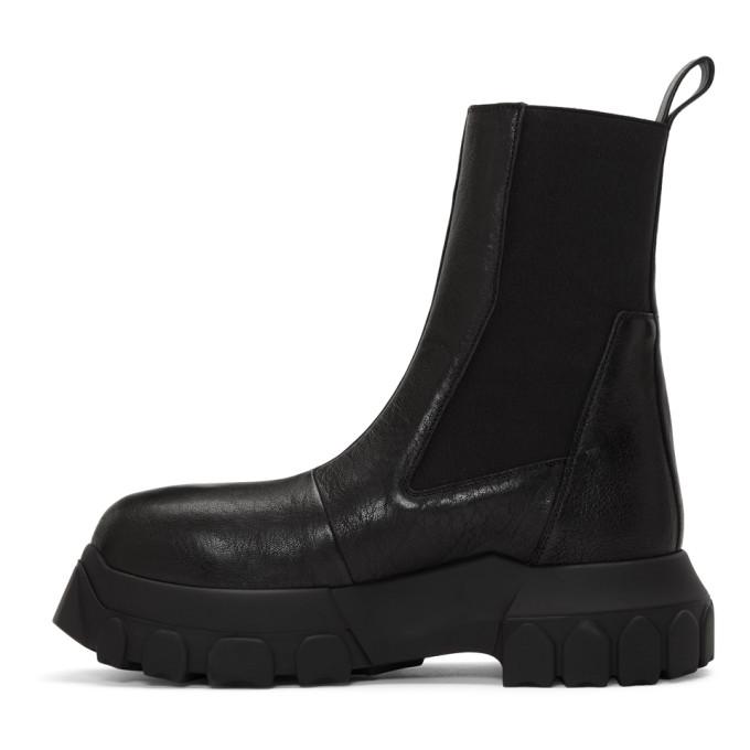 RICK OWENS Boots RICK OWENS BLACK MEGA BOZO TRACTOR CHELSEA BOOTS