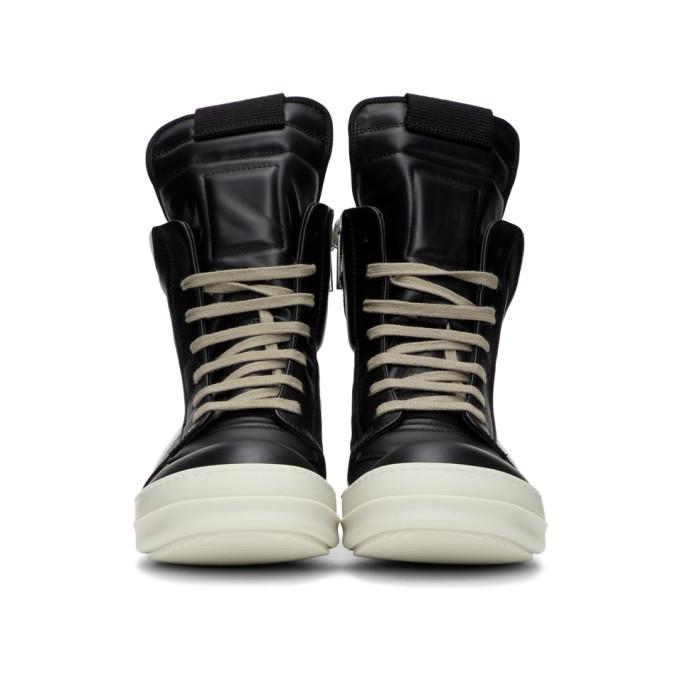 RICK OWENS Sneakers RICK OWENS BLACK AND WHITE GEOBASKET SNEAKERS