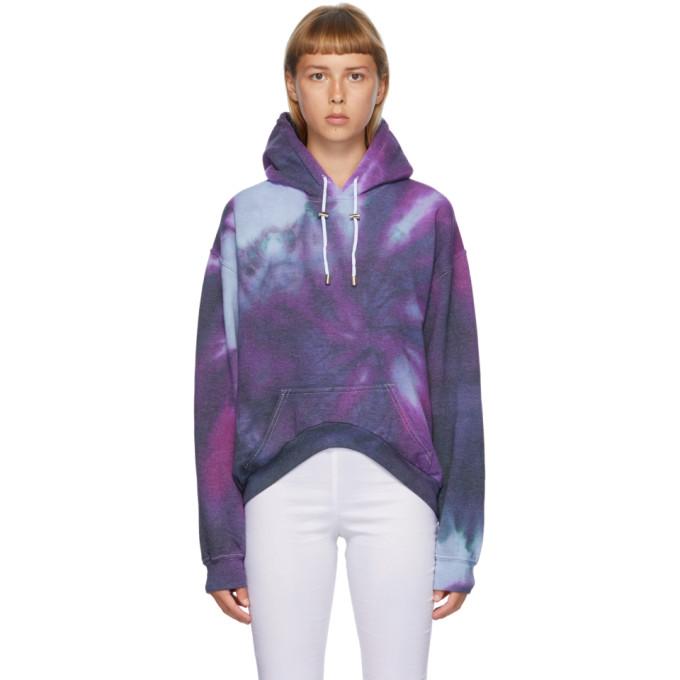 Collina Strada Pull a capuche et motif tie-dye multicolore Spiral Round Hem