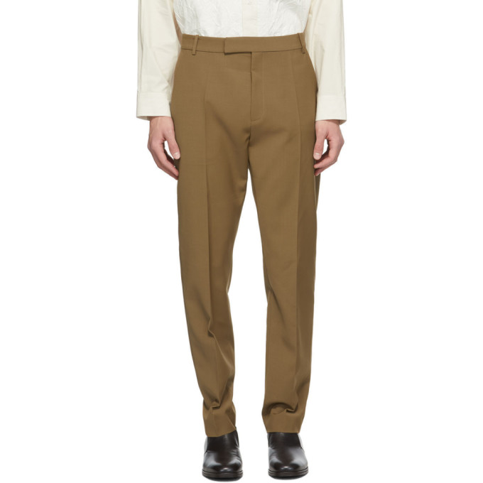 Deveaux New York Brown Wool Jasper Trousers  - buy with discount