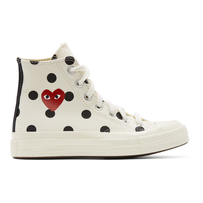 Comme des Garcons Play Converse Edition ポルカドット Heart Chuck 70 ハイ