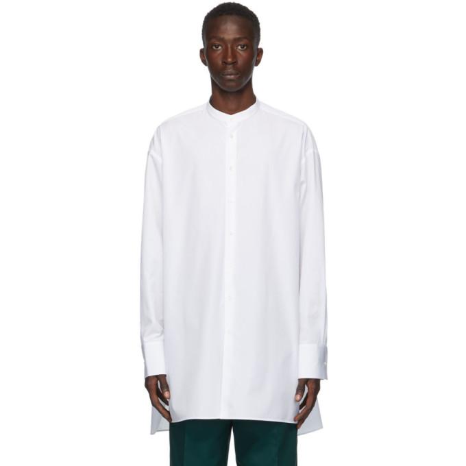 ホワイト ポプリン Sunday シャツ