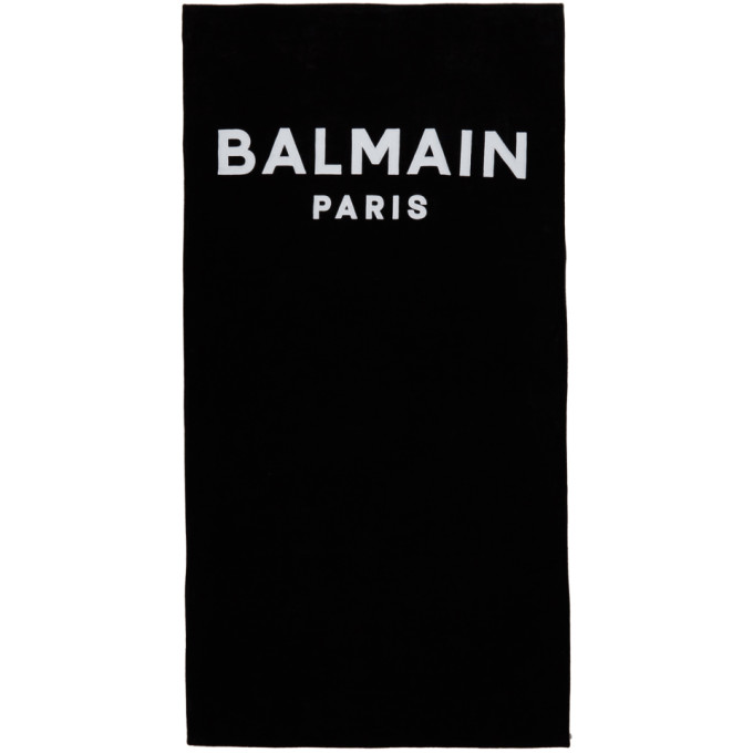 Black and White Logo Beach Towel
