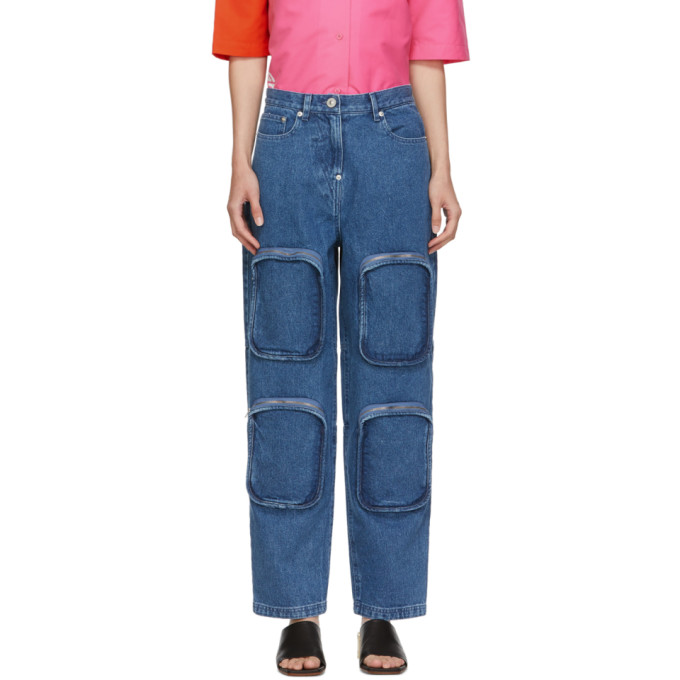 Pushbutton Jean bleu 4 Pocket