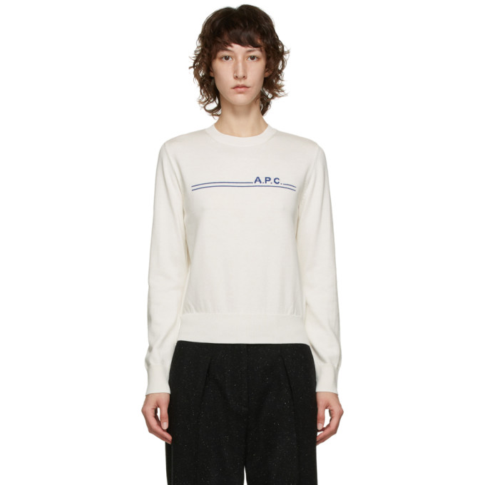 A.p.c. A.P.C. OFF-WHITE EPONYME SWEATER