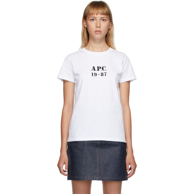 A.P.C. A.P.C. WHITE ELIZA T-SHIRT
