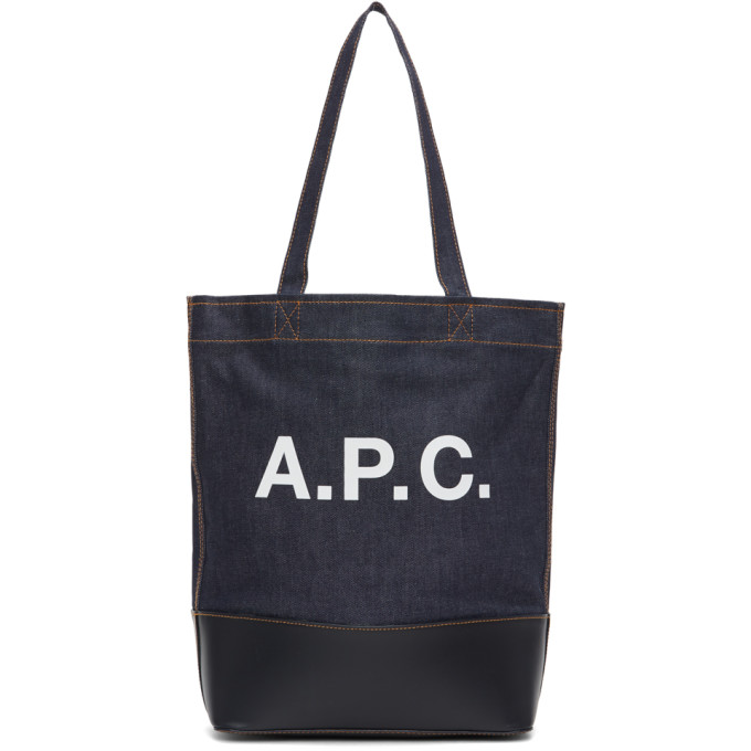 A.p.c. A.P.C. INDIGO DENIM AXELLE TOTE
