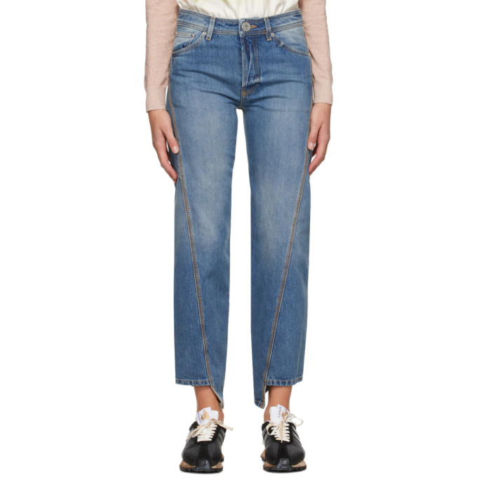 Lanvin LANVIN BLUE TWISTED JEANS