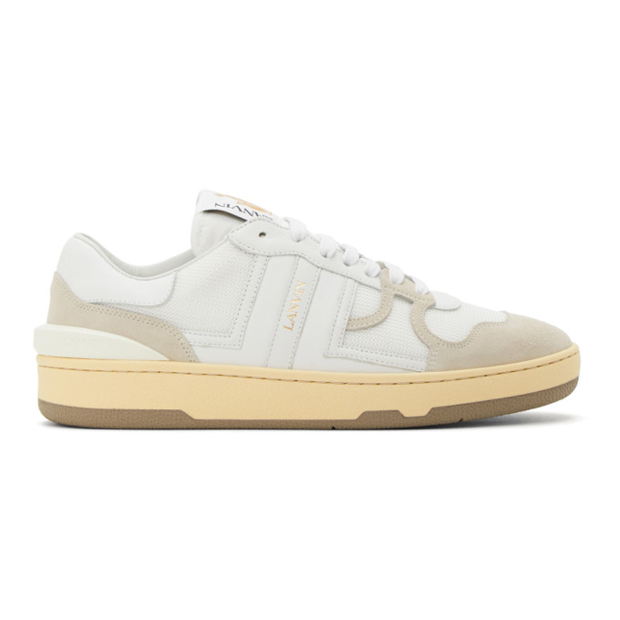 Lanvin LANVIN WHITE CLAY LOW-TOP SNEAKERS
