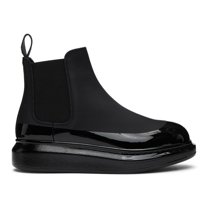Black Coated Hybrid Chelsea Boots