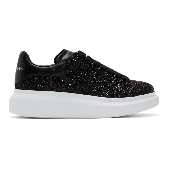 Alexander McQueen 黑色亮片阔型运动鞋