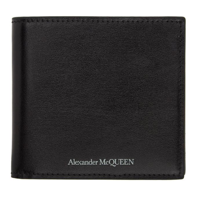Alexander McQueen ブラック ロゴ バイフォールド ウォレット