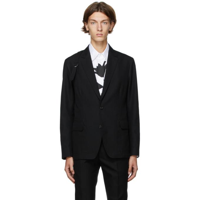 Alexander McQueen 黑色 Panelled Harness 西装外套
