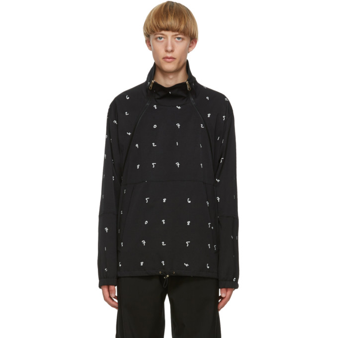 Paul Smith Paul Smith Black Numbers Print Jacket