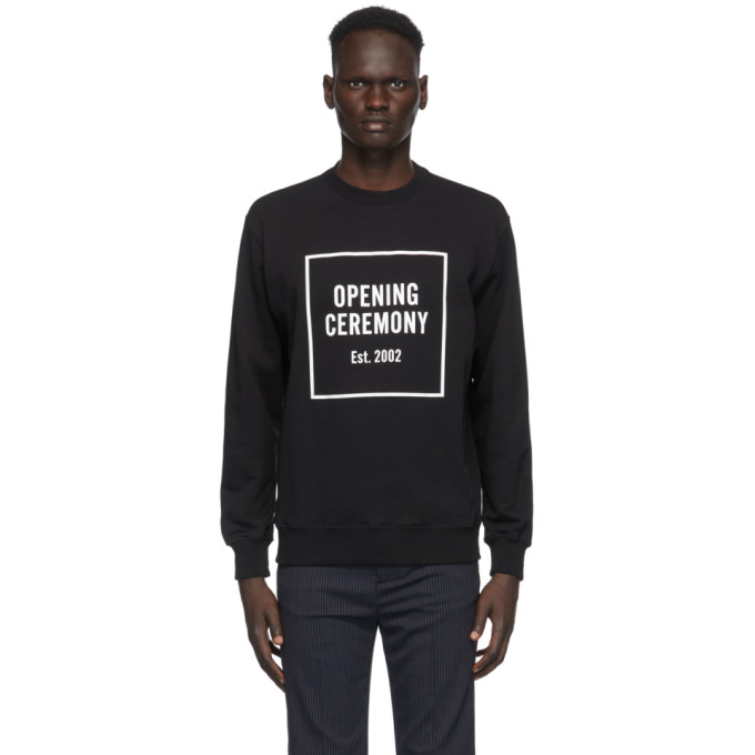 Opening Ceremony Sweatshirts OPENING CEREMONY BLACK BOX LOGO SWEATSHIRT