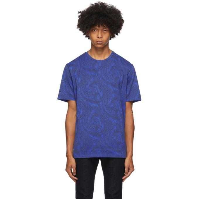 Etro ETRO BLUE PAISLEY T-SHIRT