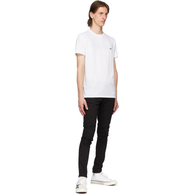 LACOSTE T-shirts LACOSTE WHITE PIMA COTTON T-SHIRT