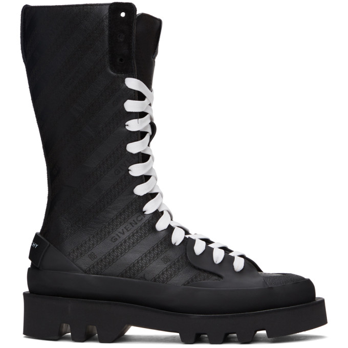 Givenchy GIVENCHY BLACK CLAPHAM MID-CALF BOOTS