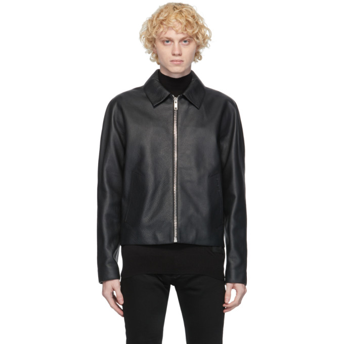 Givenchy Givenchy Black Leather Laser Logo Jacket