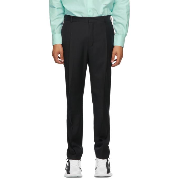 Givenchy Pantalon en laine noir Travel Jogger