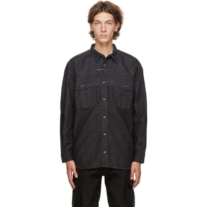 Givenchy GIVENCHY BLACK DENIM ADDRESS SHIRT