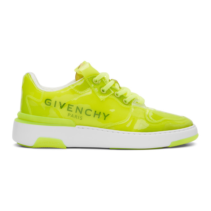 Givenchy GIVENCHY YELLOW TRANSLUCENT WING LOW SNEAKERS