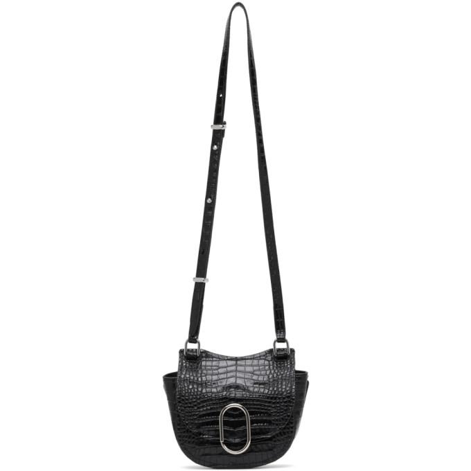 31 Phillip Lim Black Croc Mini Hunter Alix Bag 202283F04808801